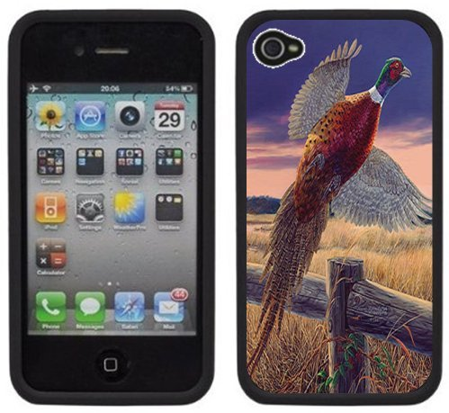 Faisan   Fait à la main   iPhone 4 4s   Etui/Housse noir