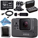 GoPro HERO5 Black CHDHX-501 + Sony 64GB microSDXC + Custom GoPro Case for GoPro and GoPro Accessories + Tripod Adapter For GoPro Bundle