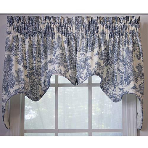 Ellis Curtain Victoria Park 2-Piece Swag Empress Valance Blue