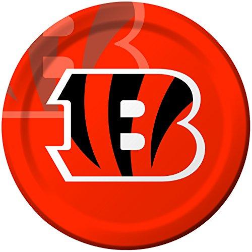 Cincinnati Bengals Party Supplies (Creative Converting 8 Count Cincinnati Bengals Paper Dinner)