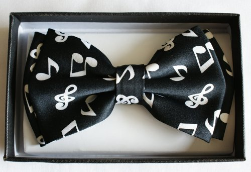 Brand New Awesome SILK FEEL Music Note MEN'S TUXEDO BOW TIE