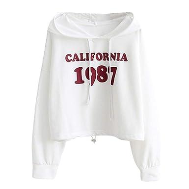 Sudaderas Adolescentes Chicas Cortas, K-Youth CALLFORNIA 1987 ...
