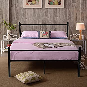 Amazon.com: GreenForest Heavy Duty Bed Frame Queen Size Non-slip ...