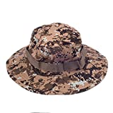 Mens Camo Military Boonie Cap Brim Army Fishing Hiking Outdoor Bucket Sun Hat