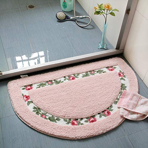 Coral Colored Rose (Stay Young Shaggy Area Rugs Bathroom Rugs Rugs for Bedroom Rugs for Living Room Soft Non-Slip Absorbent Bath Mat Bath Rug Floor Mat Door Mat Kicthen Rugs (Rose Flower Design))