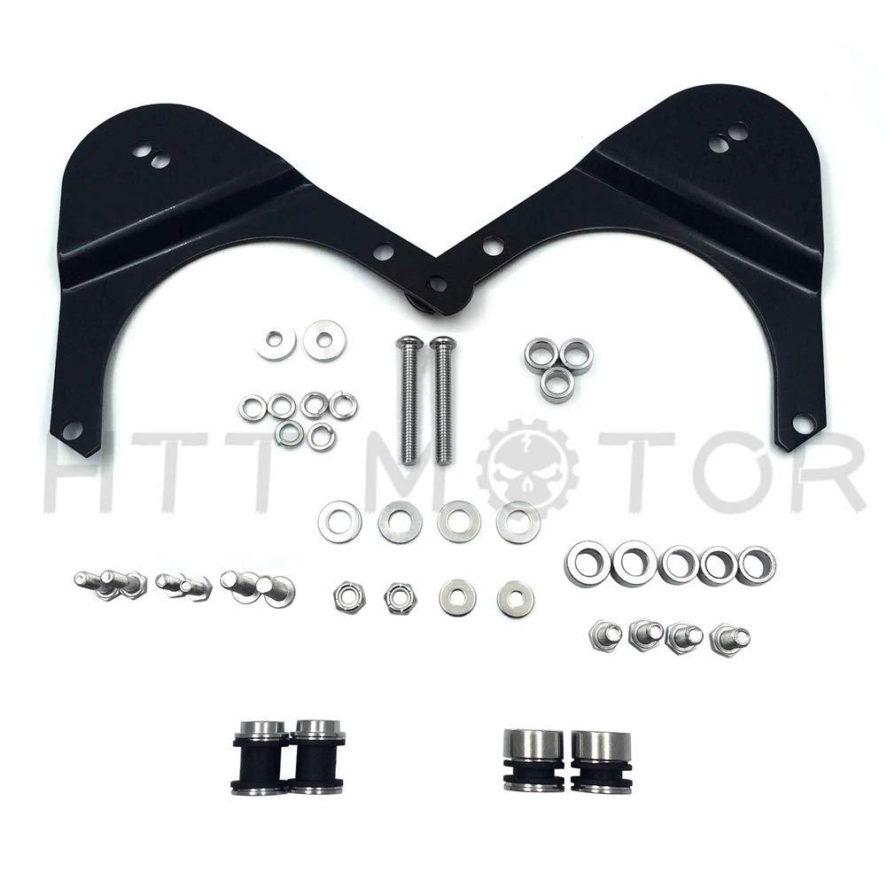 HTTMT MT503-002-M 4 Point Docking Hardware Kit Compatible with 2009-2013 Harley Touring Road King Street Glide Matte Black