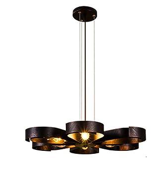 Lámparas de hierro nórdicas, barra de techo decorativa ...