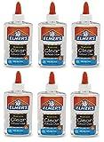 (US) Elmer's Glue, Clear, School Glue, 5 Ounces, Pack Of 6