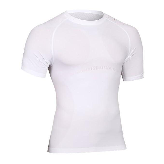 Hombre Camisetas Running Camisas Manga Corta Camiseta Compresion: Amazon.es: Ropa y accesorios