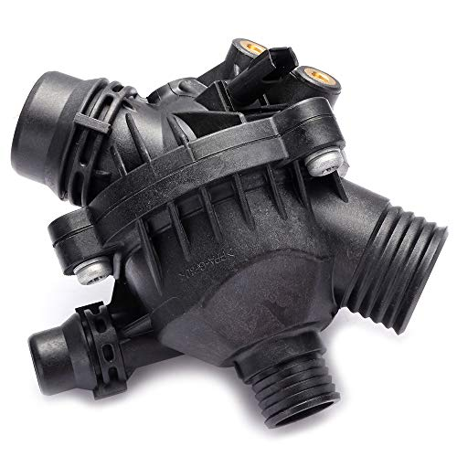 - ROADFAR Engine Coolant Thermostat 11537536655 11537549476 Fit for 2006-2007 BMW 525i/525i/525xi/530xi,2008-2010 BMW 128i/135i/528i/535i Thermostat Housing Assembly