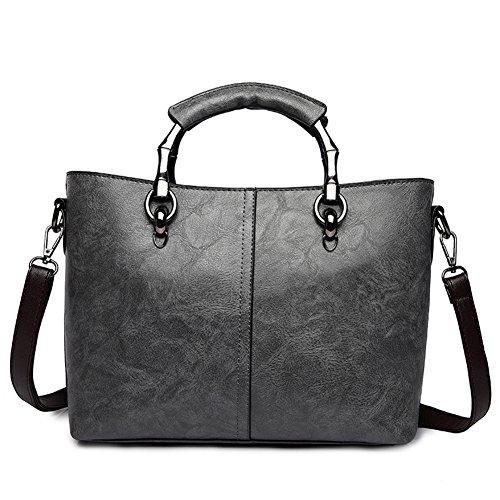 Mommy Capacity Bags Shoulder High Gray Ms Retro Handbag Messenger Bag bag AA4pIq