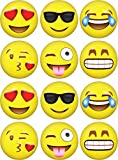 Image of Emoji Inflatable Beach Balls (12-Pack) by LiveEco | Emoji Party Supplies for Birthdays, Party Favors, Games, Prizes, and more! | Made with Quality Child-Safe Eco-Friendly Materials