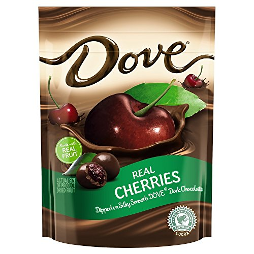 Dove Fruit Dark Chocolate With Whole Cherries 6-Ounce Bag (Chocolate Dipped Cherries)