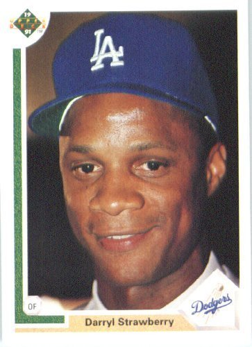 1991 Upper Deck # 245 Darryl Strawberry Los Angeles Dodgers - MLB Baseball Trading ()