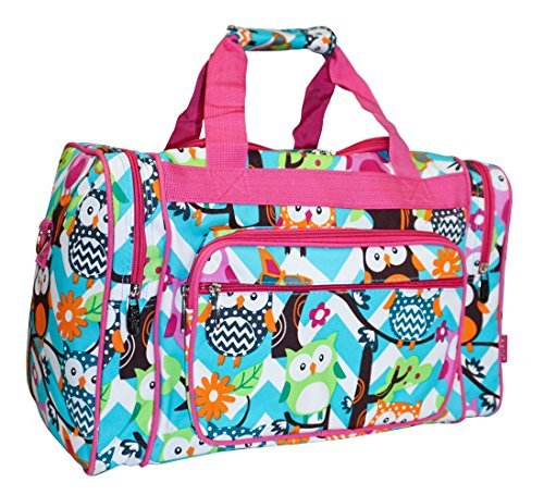 NGIL Owl Teal Blue Small Duffle Bag (Best Ngil Carry On Luggage Duffels)