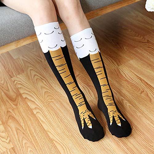(MAREEYA SHOP USA Funny 3D Chicken High Socks Creative Cartoon Animal Thigh Stocking Women Men)