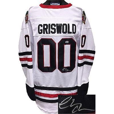 wholesale dealer 97690 eaecb Chevy Chase Signed Chicago Blackhawks White Christmas ...