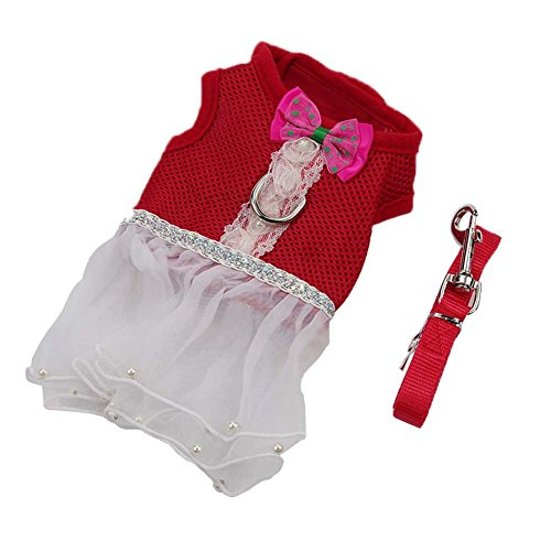 og Dress Harness and Leash Lace Tutu Skirt for Small Dogs Girl ()