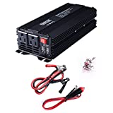 ERAYAK 500W Power Inverter Dual US Outlets,3.1A Dual USB Charging Ports w/ Car Cigarette Lighter Cable & Alligator Clips Cable,DC12V to AC110V,for Blender,Game Console,Cooler,Cell Phone,Tablet-8095U