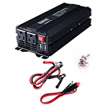ERAYAK 500W Power Inverter DC12V to AC110V with Dual US Outlets Dual USB Charging Ports 3.1A  w/ Car Cigarette Lighter Cable and Alligator Clips Cable - 8095U