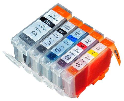 5 Pack Compatible Canon CLI 8 , CLI-8 , CLI8 , PGI 5 , PGI-5 , PGI5 1 Cyan, 1 Magenta, 1 Yellow, 1 Small Black, 1 Big Black for use with Canon Pixma iP4200, Pixma iP4300, Pixma iP4500, Pixma iP5200, Pixma iP5200R, Pixma MP500, Pixma MP530, Pixma MP600, Pixma MP610, Pixma MP800, Pixma MP800R, Pixma MP810, Pixma MP830, Pixma MX850. Ink Cartridges for inkjet printers. PGI-5BK, CLI-8BK, CLI-8C, CLI-8M, CLI-8Y © Blake Printing Supply 8bk Black Inkjet