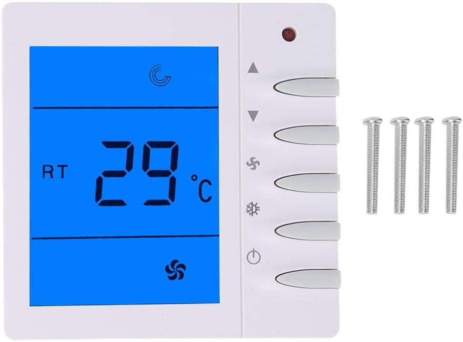 Thermostat, Intelligent LCD Thermostat Fan Coil Controller Room Digital Thermostat Temperature Control Instrument
