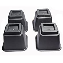 """Under Bed Storage Bed Risers / Furniture Risers, Adds 5"""" Height (Set of 4 Bed Lifts)"""