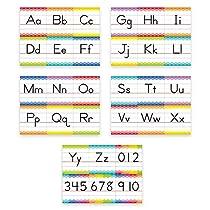 Creative Teaching Press Painted Palette Traditional Manuscript Alphabet Bulletin Board (7055)