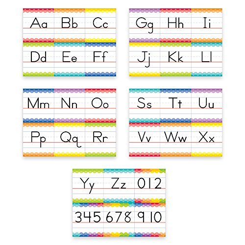 Creative Teaching Press Painted Palette Traditional Manuscript Alphabet Bulletin Board (7055)