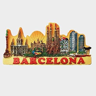 MUYU Magnet Imán para Nevera en 3D con diseño de Barcelona España: Amazon.es: Hogar