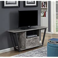 Convenience Concepts 112085GYBF Graystone TV Stand Stone, 60, Gray/Black