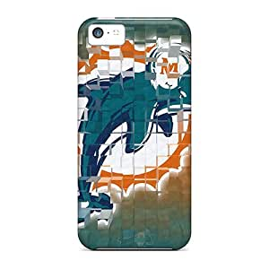 First-class Case Cover For Iphone 5c Dual Protection Cover Miami Dolphins