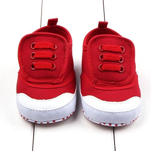 0e024fdc8d629 Binmer(TM) Infant Baby Boy Girl Soft Sole Crib Shoes Sneaker Prewalker Crib  Shoes (Age:0~6 Month, Red)