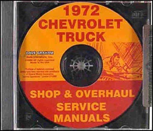 1972 CHEVROLET PICKUP, VAN & TRUCK REPAIR SHOP & SERVICE MANUAL CD INCLUDES: 10-30 SERIES, Blazer, Suburban, Van and Motorhome Chassis, ½ ton, ¾ ton & 1 ton, models K5, K10, K20, K30, C10, C20, C30, G10, G20, G30, P10, P20 and P30. 72 ()
