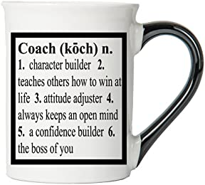 Coach Mug, Coach Coffee Cup, Ceramic Coach Mug, Custom Coach Gifts By Tumbleweed