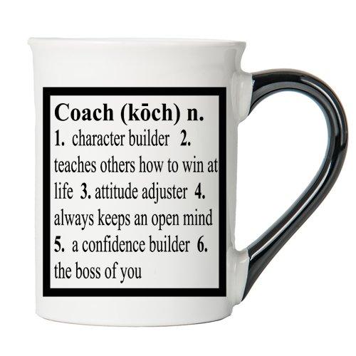 Coach Mug, Coach Coffee Cup, Ceramic Coach Mug, Custom Coach Gifts By Tumbleweed (Tumbleweed Ceramic Pottery)