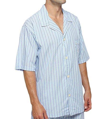 Stripe Woven Pajama Top - 9
