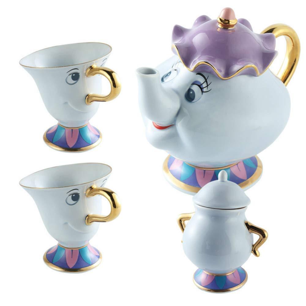 qwdf Modelo Explosion Tetera de cerámica Set de té cafetera Taza ...