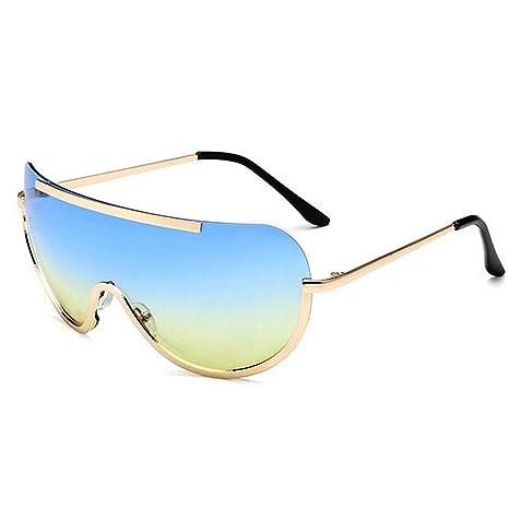 KOMEISHO Novedad diseñador Tonos Gafas de Sol de Gran tamaño ...