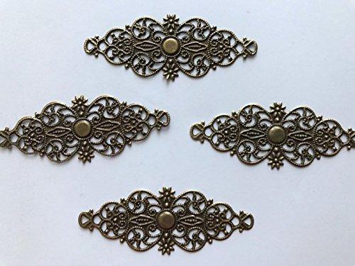 25 pcs Bronze Embellishment Scrapbooking Paper Filigree Metal Stamping Lace - Filigree Stamping