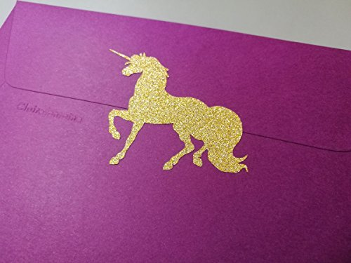 20 Glitter Unicorn Stickers, peel and stick Party décor, invitations, gold or silver Wall Sticker sheets Decal Crafts Scrapbooking Birthday Envelope Seals girl boy baby shower from EtagaDesigns