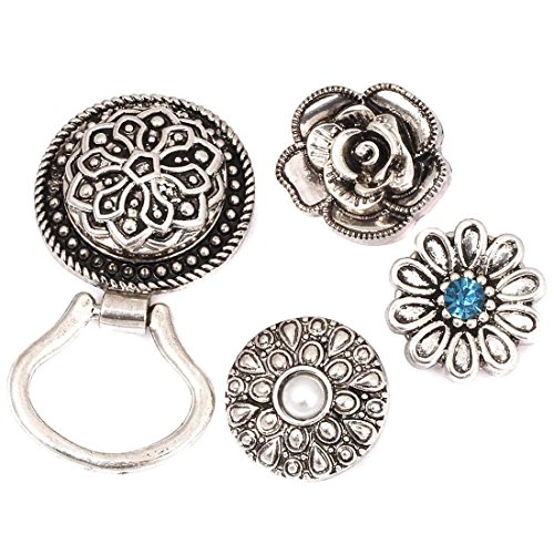 BMC Interchangeable Snap Centerpiece Eye Glass Holding Magnetic Brooch - Set 2 (Rhinestone Eyes Brooch)