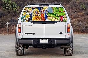 DRAGON BALL Z Car Window Graphic Decal Sticker Truck SUV Van Goku Vegeta 019, Large