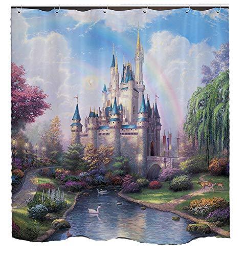 Cinderella Castle Shower Curtain Magical Scenic Place Fantasy Fairy Tale
