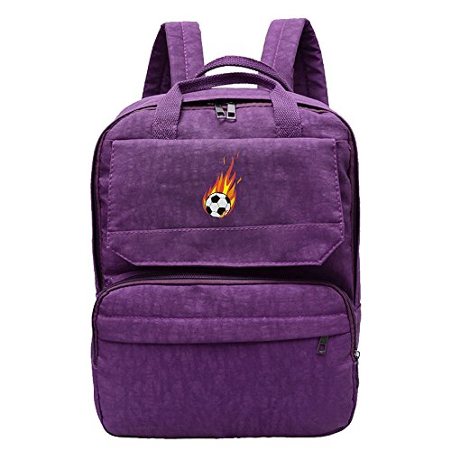 Price comparison product image Flaming Football Backpack For Women, Girls Leisure Shoulders Bag