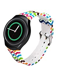 Welcomeuni FASHION 22MM TPU Silicone Watch Band Strap For Samsung Galaxy Gear S2 SM-R720 (G)