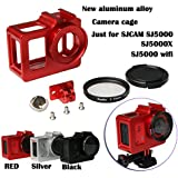2016 New Camera Accessory, Aluminum Alloy cage/ Protective Housing Case Metal frame,UV gift for SJCAM SJ5000 WIFI/SJ5000/SJ5000X Black