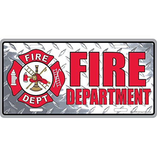 Fire Department License Plate, Gifts for Firemen and Firewomen First Responders