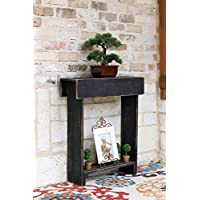 Black Skinny Wall Table