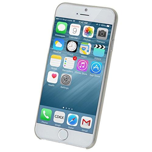 doupi UltraSlim Funda para Apple iPhone 6 6S AllClear Case transparente Gris